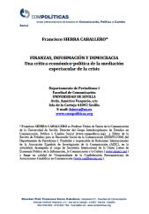 finanzas informacion y democracia francisco sierra
