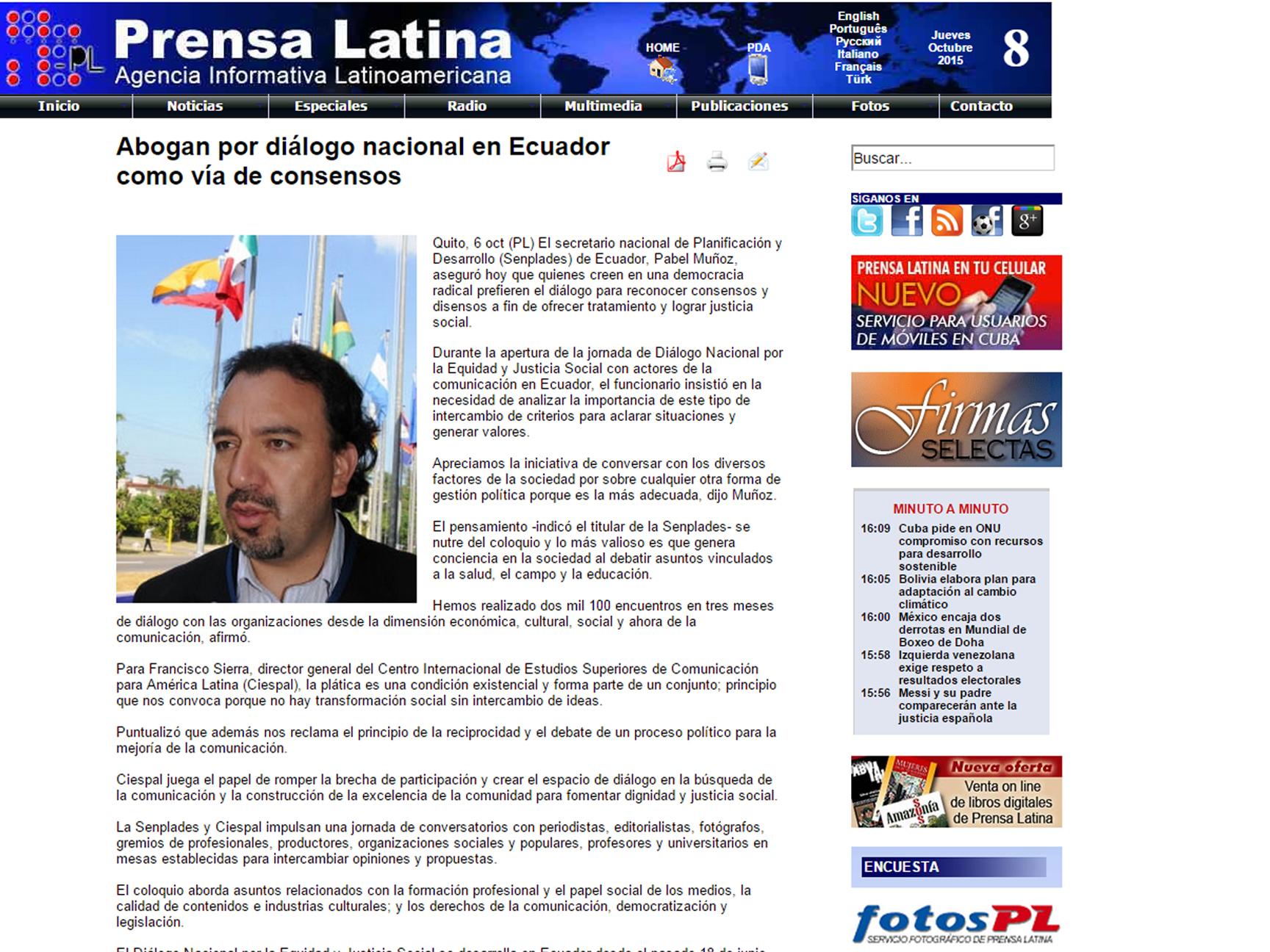 2015-10-06DialogoPrensaLatina