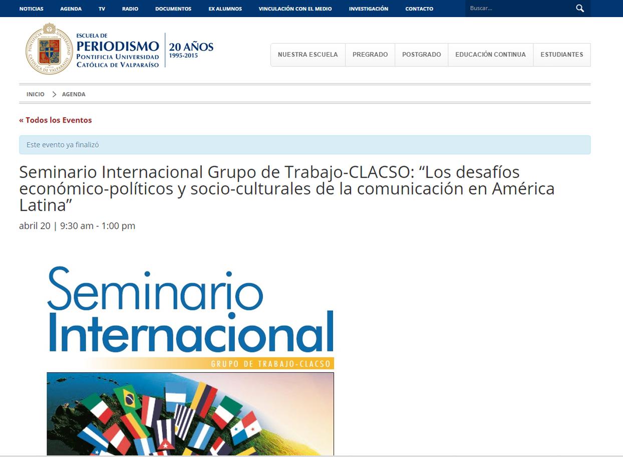 2016-04-20 BPontificiaUniversidadCatolicaDeValparaiso