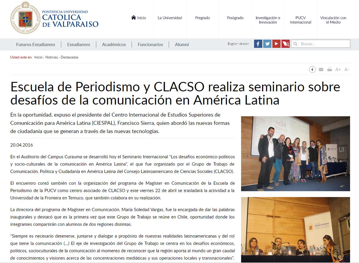 2016-04-20 PontificiaUniversidadCatolicaDeValparaiso